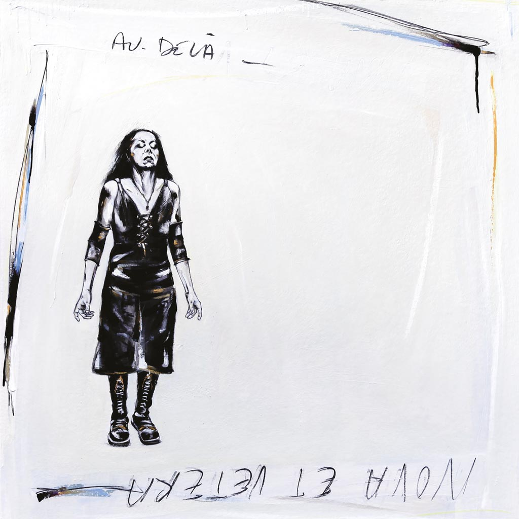 Artwork for Au-dela last Lp of Nova Et Vetera band by Nathalie Derimay